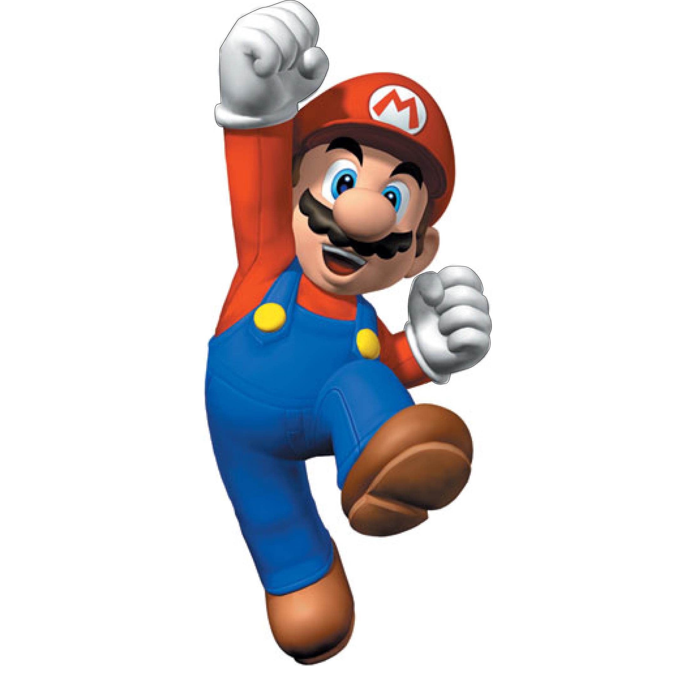 ... bleu, et avec une casquette rouge où l'on peut lire un M pour Mario